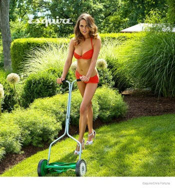 Chrissy Teigen Does Yard Work in Swimsuits for Esquire Shoot