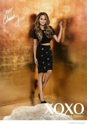 Chrissy Teigen Poses in Crop Tops, Dresses for XOXO Fall 2014 Ads