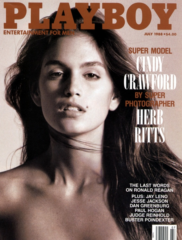 Cindy Crawford posed for Herb Ritts on Playboy July 1988 Cover