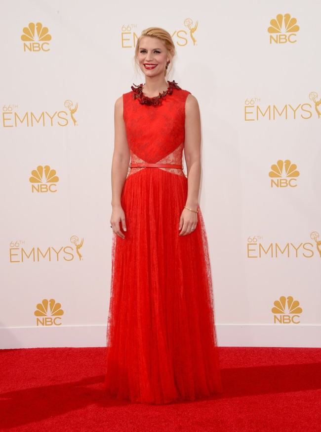 Claire Danes in Givenchy red gown
