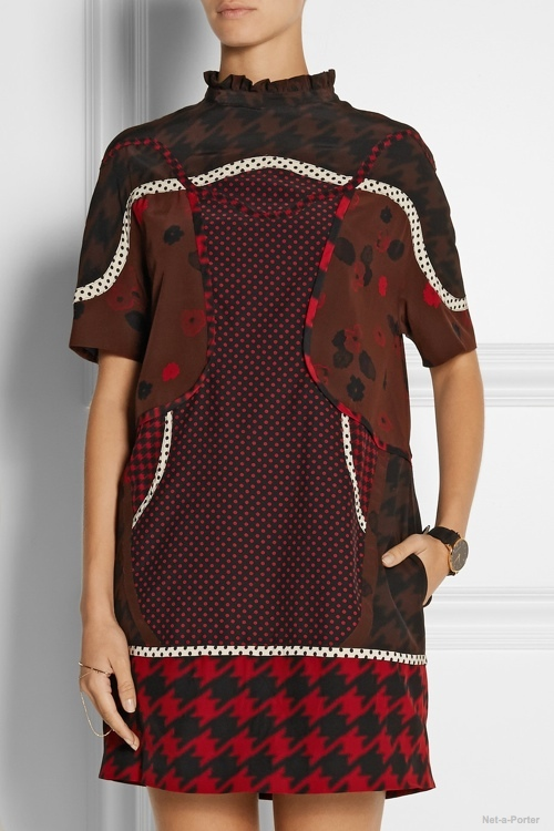 Coach Printed silk crepe de chine mini dress available at Net-a-Porter for $695.00