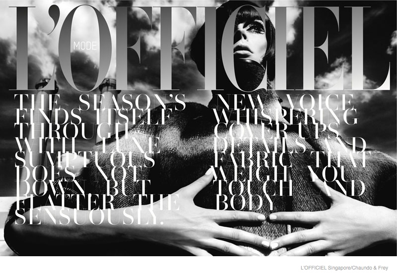 coco rocha 60s style lofficiel singapore01 Coco Rocha Dons 60s Style for L'Officiel Singapore September 2014