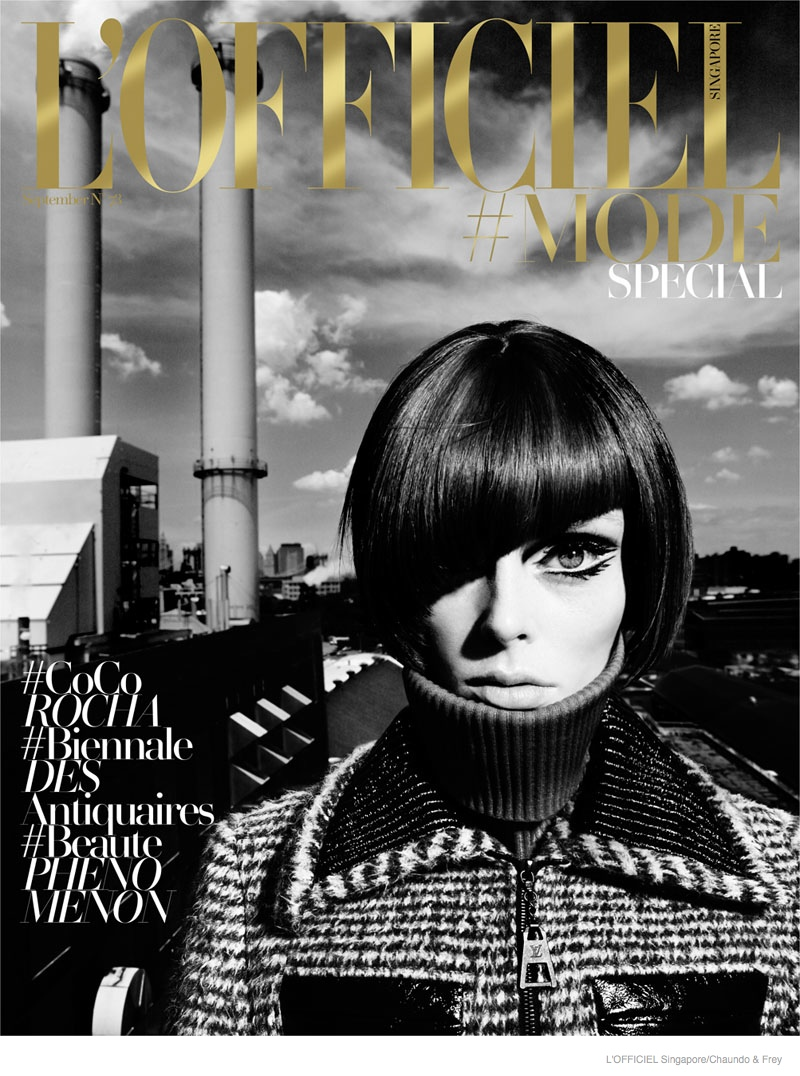 coco rocha 60s style lofficiel singapore12 Coco Rocha Dons 60s Style for L'Officiel Singapore September 2014