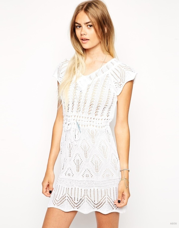 Crochet Dress with Waist Tie available at ASOS for $73.52