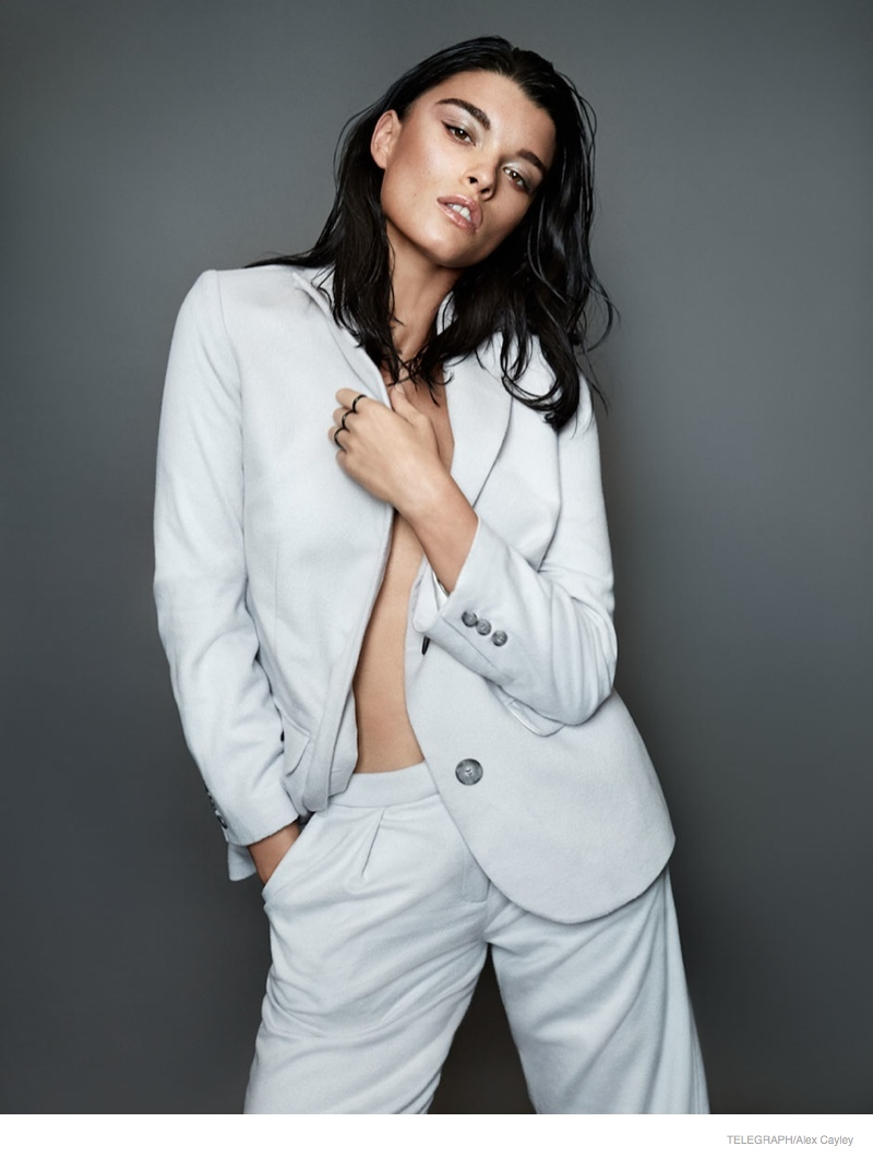 crystal renn photoshoot 2014 03 Crystal Renn Models Minimal Glam Style for Alex Cayley in Telegraph Shoot