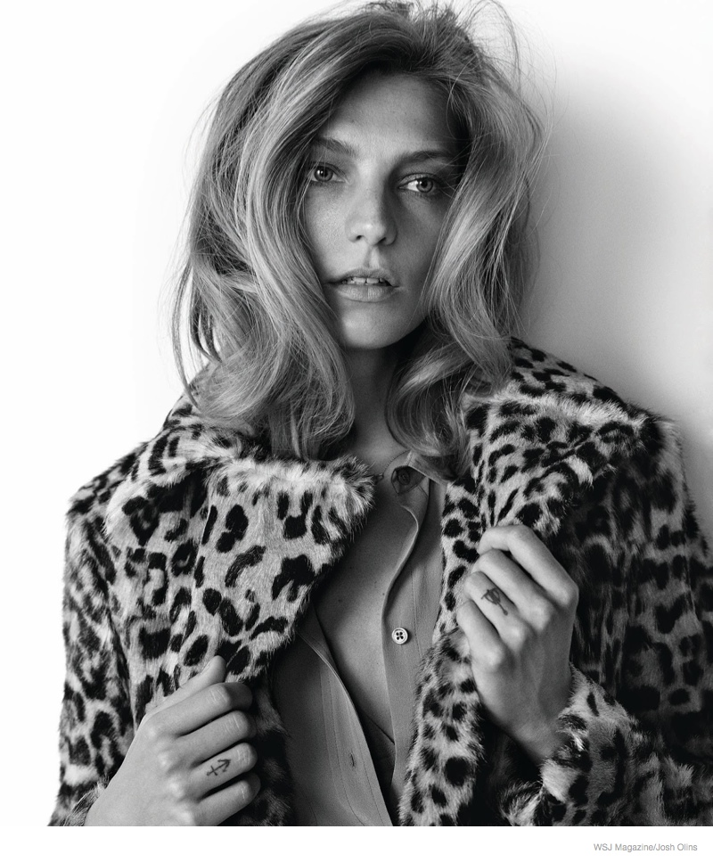 daria werbowy casual luxe02 Daria Werbowy Wears Fur, Denim for Casual Luxe Shoot in WSJ