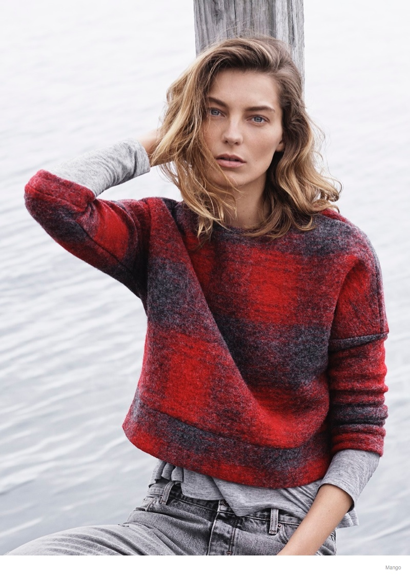 daria werbowy mango fall 2014 ad photos10 More Photos of Daria Werbowy for Mango Fall 2014 Ads