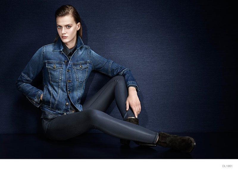 dl1961 denim 2014 fall winter ad campaign06 Tess Hellfeuer in Dark Styles for DL1961 Premium Denims Fall Ads