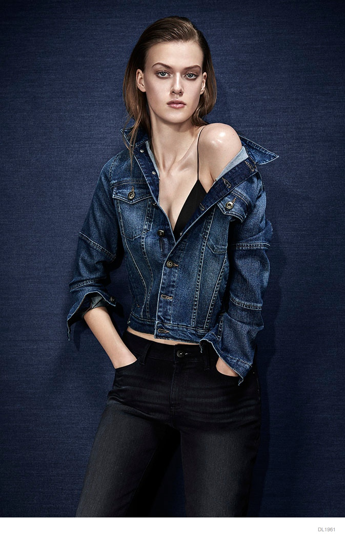 Tess Hellfeuer in Dark Styles for DL1961 Premium Denim's Fall Ads