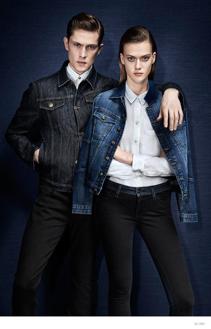 dl1961 denim 2014 fall winter ad campaign08 Tess Hellfeuer in Dark Styles for DL1961 Premium Denims Fall Ads