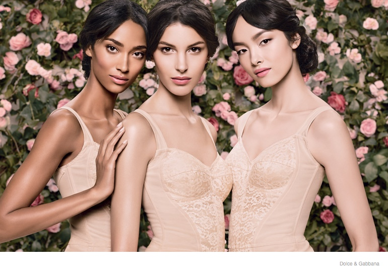 dolce gabbana skincare ad campaign 2014 01 Kate King, Fei Fei Sun, Anais Mali, Ginta Lapina & Andreea Diaconu Star in Dolce & Gabbana Skincare Campaign