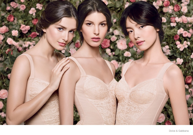 dolce gabbana skincare ad campaign 2014 02 Kate King, Fei Fei Sun, Anais Mali, Ginta Lapina & Andreea Diaconu Star in Dolce & Gabbana Skincare Campaign