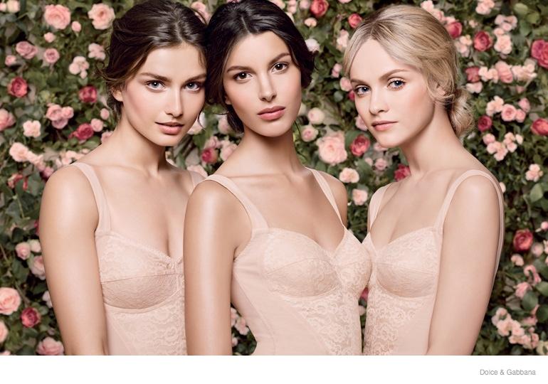 dolce gabbana skincare ad campaign 2014 03 Kate King, Fei Fei Sun, Anais Mali, Ginta Lapina & Andreea Diaconu Star in Dolce & Gabbana Skincare Campaign