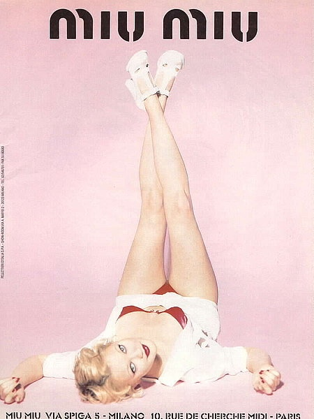 drew barrymore miu miu spring 1995 ad campaign03 TBT | Drew Barrymore Looks Very 90s in These Miu Miu Ads