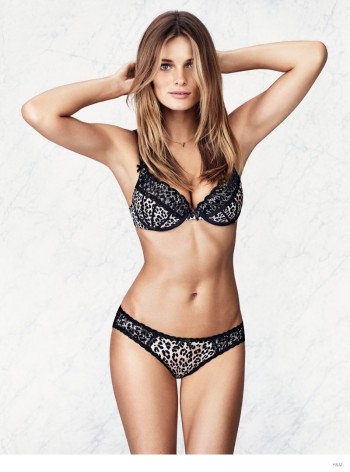 Edita Vilkevicute in Sexy Underwear Styles for H&M