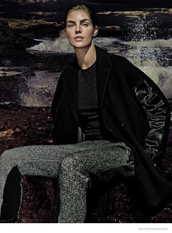 Hilary Rhoda Wears Fall Outerwear Styles in Elie Tahari's New Ads