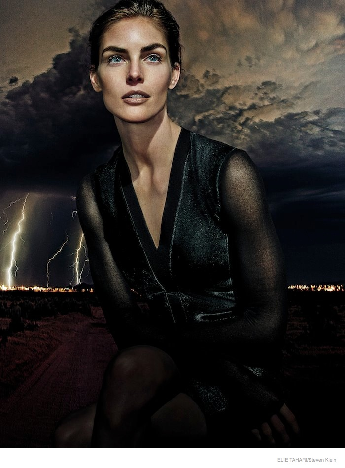 elie tahari outerwear fall 2014 ad campaign05 Hilary Rhoda Wears Fall Outerwear Styles in Elie Tahari's New Ads