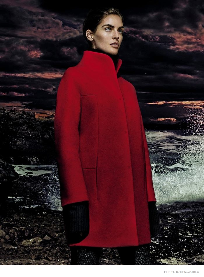 elie tahari outerwear fall 2014 ad campaign07 Hilary Rhoda Wears Fall Outerwear Styles in Elie Tahari's New Ads