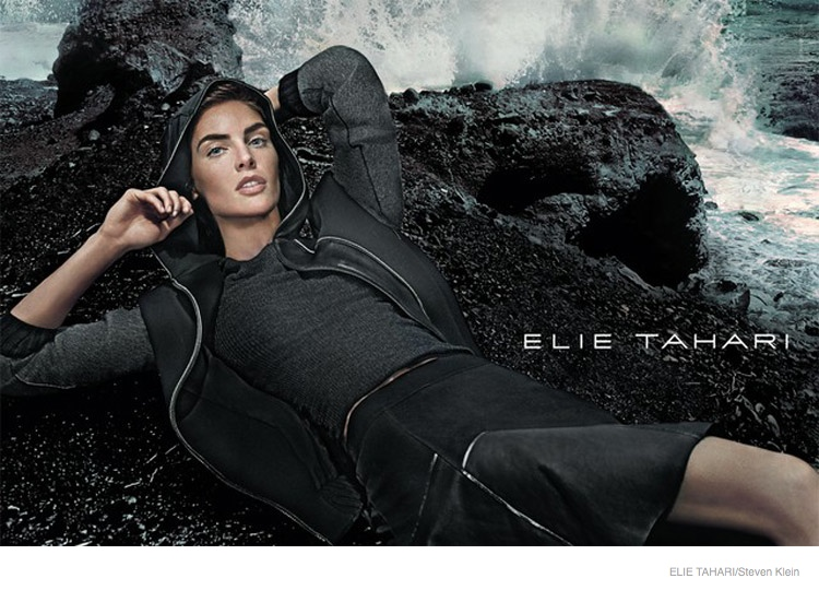 elie tahari outerwear fall 2014 ad campaign08 Hilary Rhoda Wears Fall Outerwear Styles in Elie Tahari's New Ads