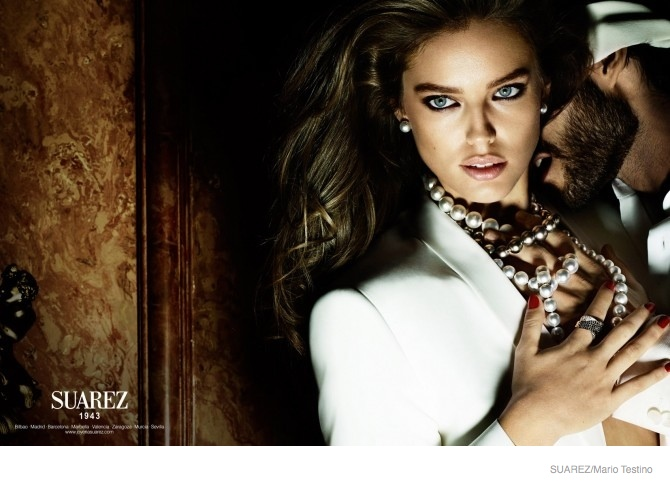 Emily DiDonato Serves Seduction in Suarez Jewelry's 2014 Ads