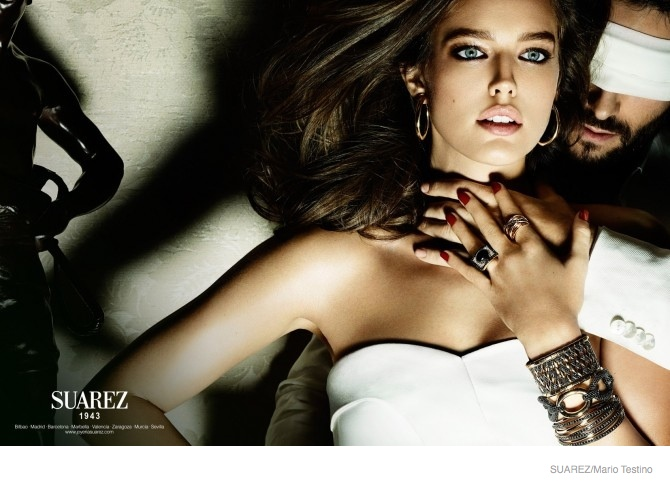 emily didonato suarez jewelry ad campaign 2014 03 Emily DiDonato Serves Seduction in Suarez Jewelrys 2014 Ads