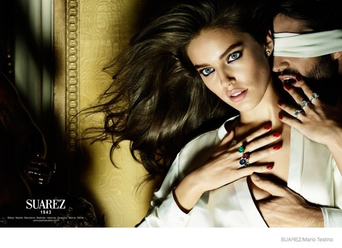 emily didonato suarez jewelry ad campaign 2014 04 Emily DiDonato Serves Seduction in Suarez Jewelrys 2014 Ads
