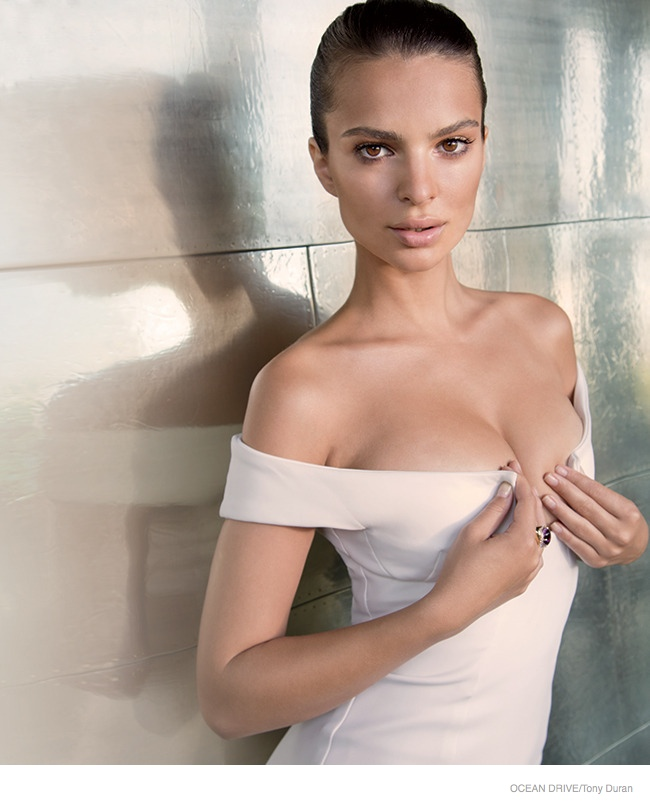 emily ratajkowski pictures 2014 02 Emily Ratajkowski Stars in Ocean Drive, Talks Mens Problem with Nude Portraits