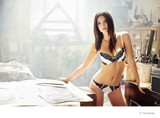 emily ratajkowski yamamay underwear 2014 fall ad campaign10 Emily Ratajkowski Models Lingerie for Yamamay's Fall 2014 Ads