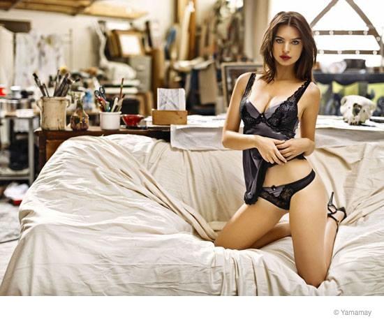 emily ratajkowski yamamay underwear 2014 fall ad campaign12 Emily Ratajkowski Models Lingerie for Yamamay's Fall 2014 Ads