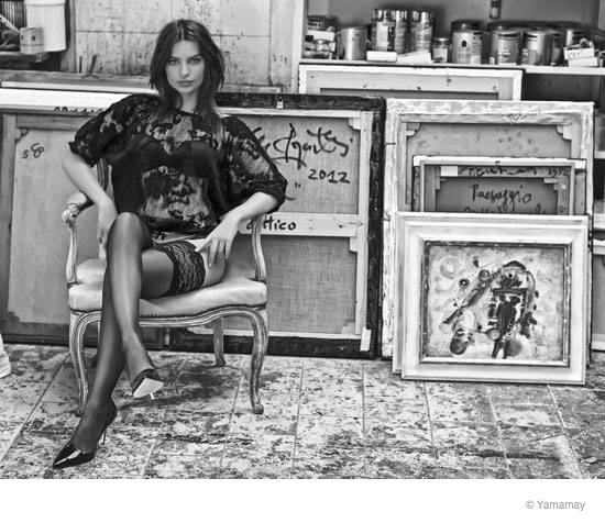 emily ratajkowski yamamay underwear 2014 fall ad campaign15 Emily Ratajkowski Models Lingerie for Yamamay's Fall 2014 Ads