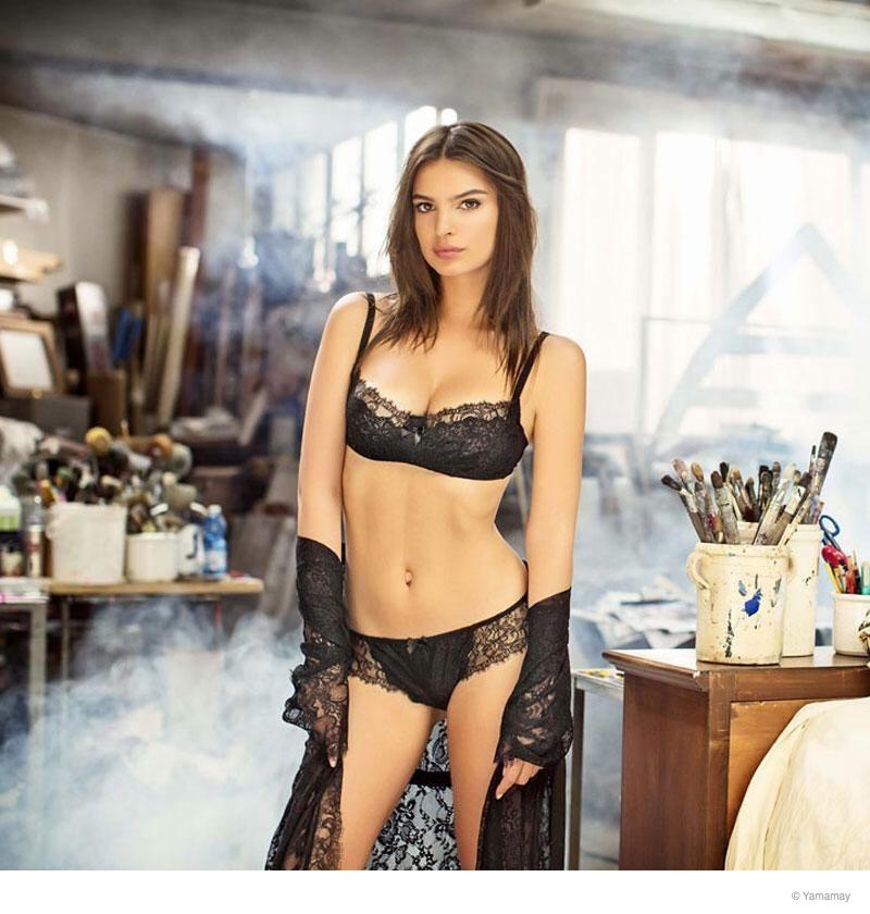 emily ratajkowski yamamay underwear 2014 fall ad campaign16 Emily Ratajkowski Models Lingerie for Yamamay's Fall 2014 Ads