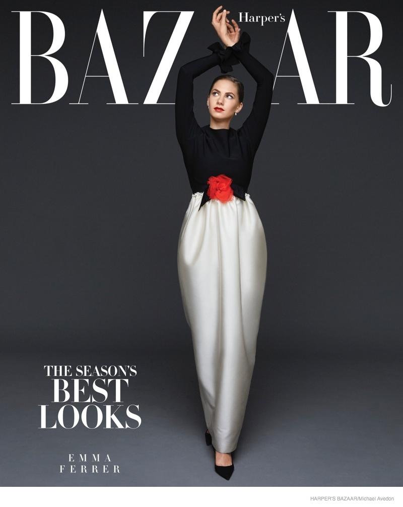 Emma Ferrer on Harper's Bazaar September 2014 Subscriber's Cover