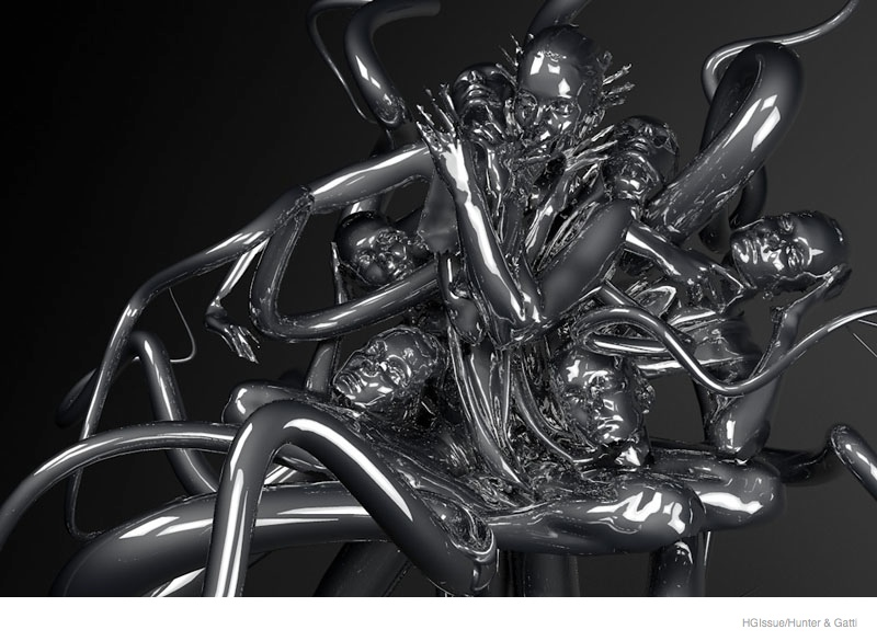 eniko mihalik 3d sculpture goddess10 Eniko Mihalik Poses as Goddess, 3D Sculpture for HGIssue by Hunter & Gatti