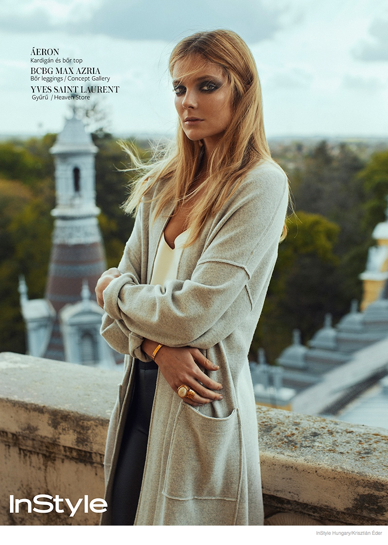 eniko mihalik images 2014 04 Eniko Mihalik Gets Glam for InStyle Hungary by Krisztián Éder