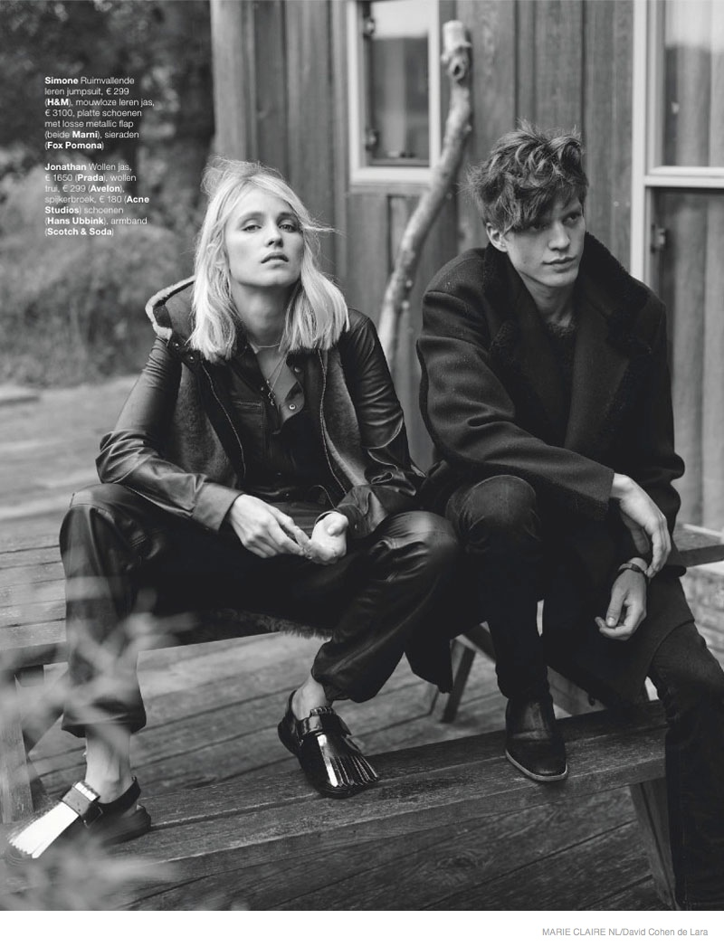 fall outerwear marie claire nl01 Simone Wears Fall Outerwear Looks in Marie Claire Netherlands September Issue