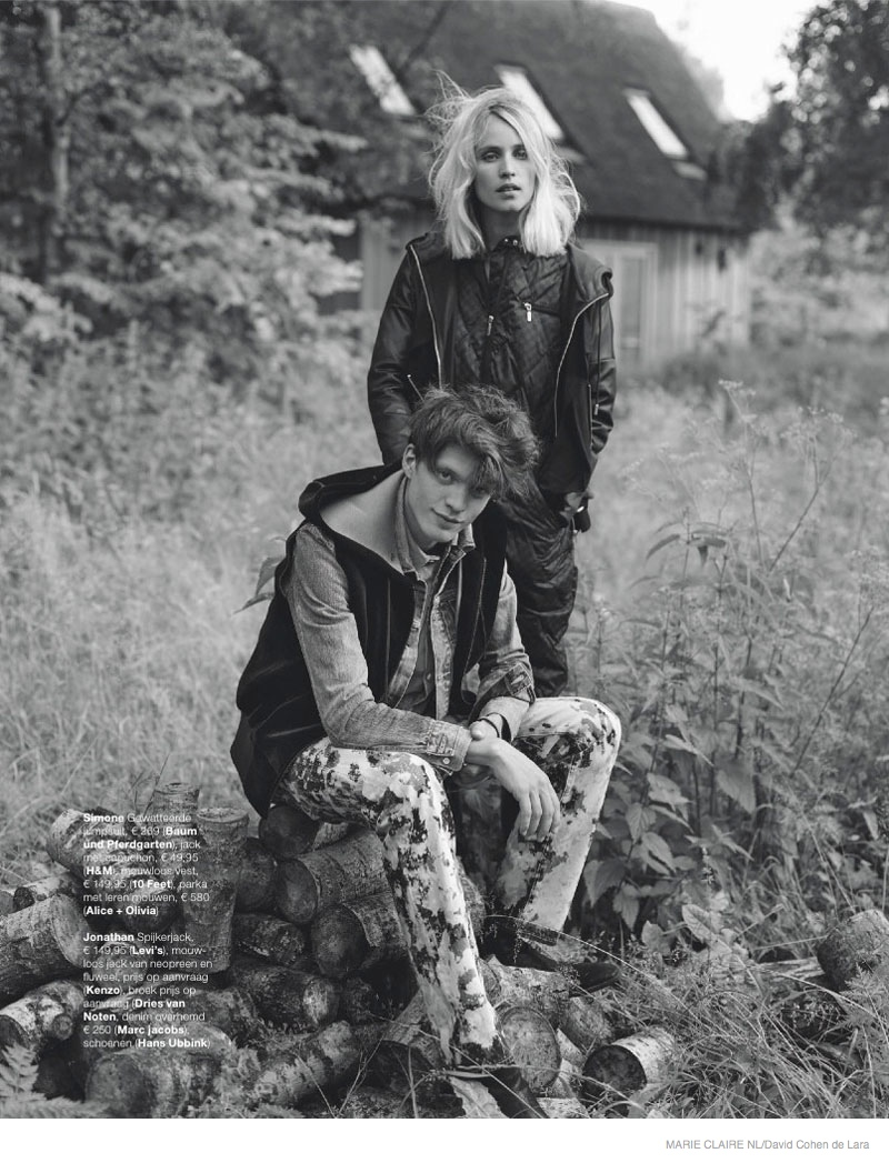 Simone Wears Fall Outerwear Looks in Marie Claire Netherlands' September Issue