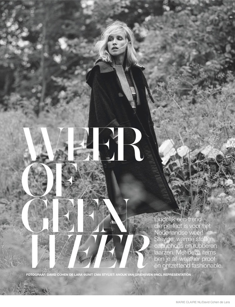 fall outerwear marie claire nl09 Simone Wears Fall Outerwear Looks in Marie Claire Netherlands September Issue