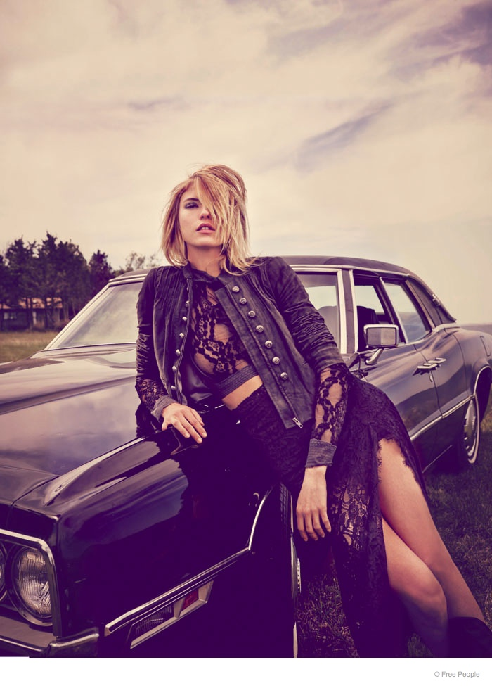 free people easy rider fashion02 Martha Hunt Wears Easy Rider Fashion for Free People Shoot