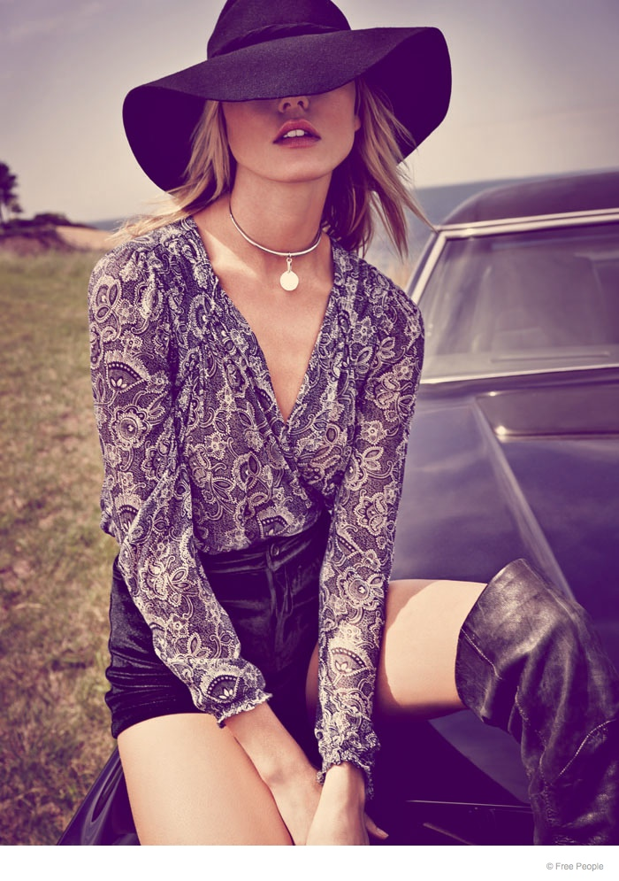 free people easy rider fashion04 Martha Hunt Wears Easy Rider Fashion for Free People Shoot