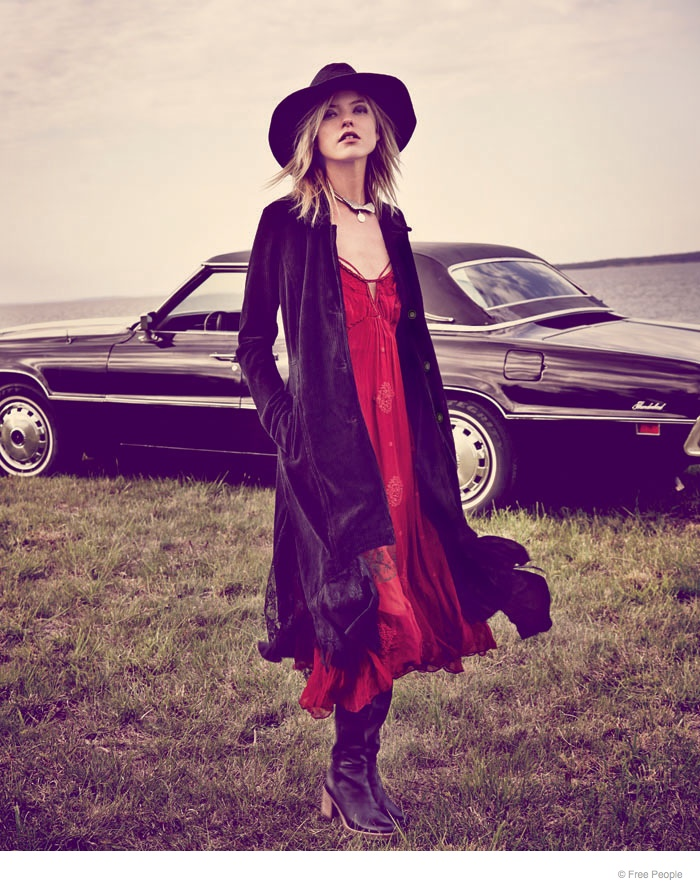 free people easy rider fashion08 Martha Hunt Wears Easy Rider Fashion for Free People Shoot