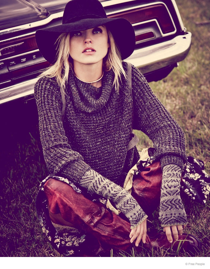 free people easy rider fashion09 Martha Hunt Wears Easy Rider Fashion for Free People Shoot