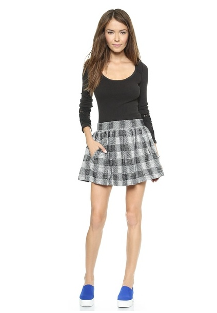 Free People Holly Go Lightly Plaid Skirt available at Shopbop for $88.00