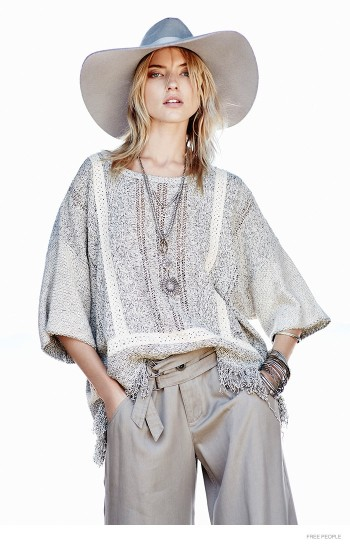 Into the Pale: Martha Hunt in Relaxed Style for Free People Lookbook