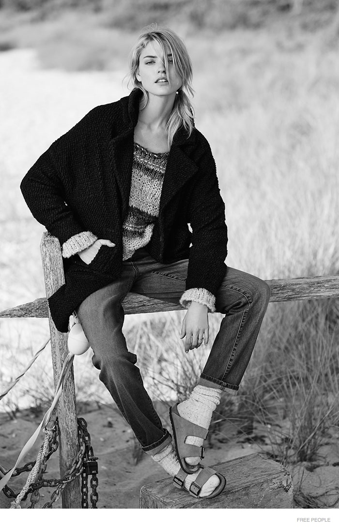 free people relaxed clothing 09 Into the Pale: Martha Hunt in Relaxed Style for Free People Lookbook