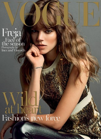 Freja Beha Erichsen Graces Vogue Australia September 2014 Cover