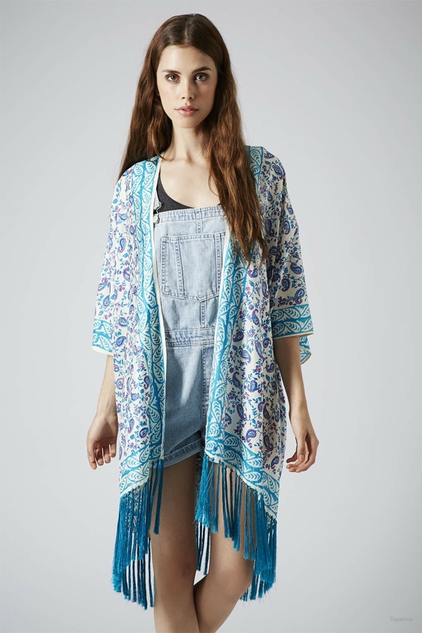 Key To Freedom Fringed Silk Kimono Cardigan available at Topshop for $125.00