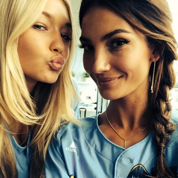 Gigi Hadid and Lily Aldridge  . Photo via Instagram