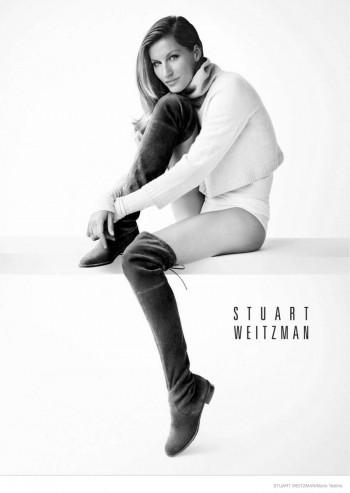 Gisele Bundchen Rocks the No Pants Look for Stuart Weitzman Fall Ads