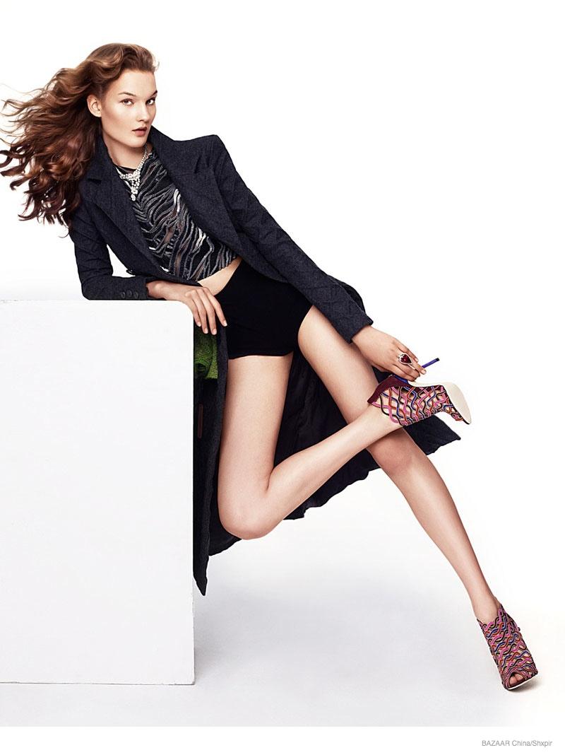 glamorous fashion shxpir 02 Kirsi Pyrhonen in Glam Fashion for Shxpir Shoot in Bazaar China