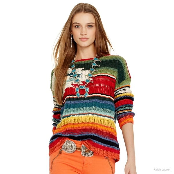 Polo Ralph Lauren Hand-Knit Serape Pullover available at Ralph Lauren for $498.00